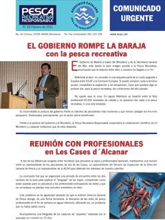 El Gobierno de España rompe la baraja con la pesca recreativa.