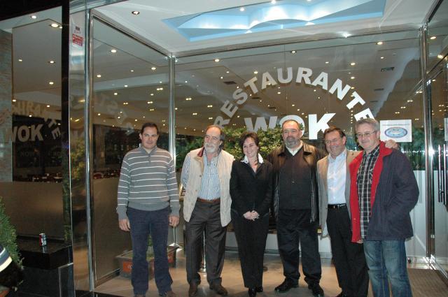 Direcxtivos y Fundadores de Albacora con su Presidente