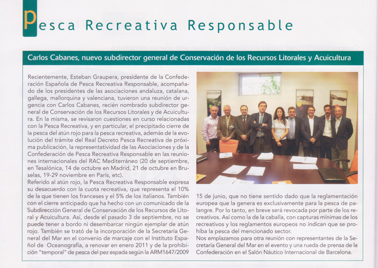 Carlos Cabanes, nuevo subdirector general de Conseración de los Recursos Litorales y Acuicultura.